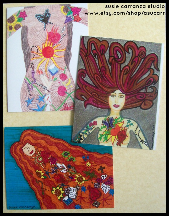 "set of cards: ""women"" collection @susie carranza studio"