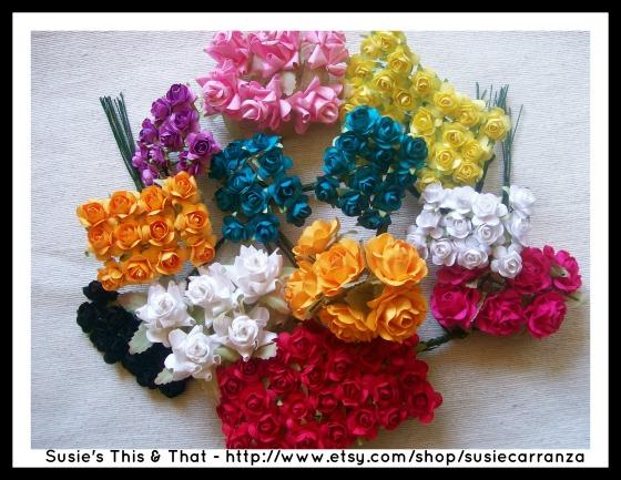 miniature paper flowers
