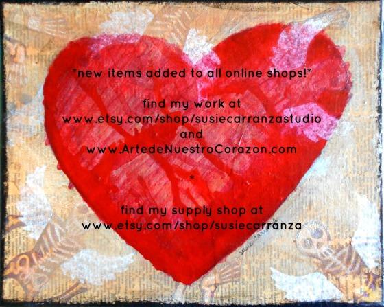 heart & skeletons canvas