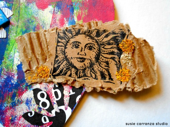 art badge for The Studio (FB); sun stamp
