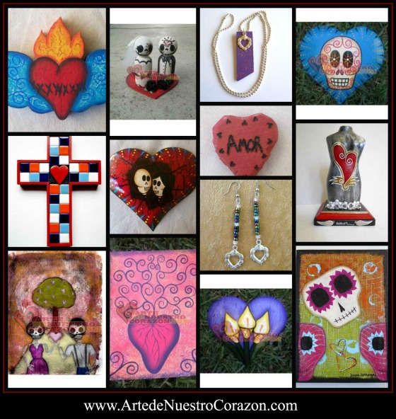 Arte de Nuestro Corazon heart art collage