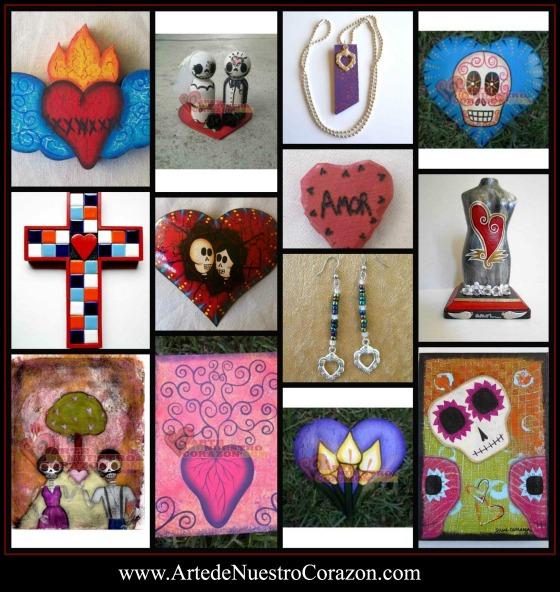 Arte de Nuestro Corazon heart art collage
