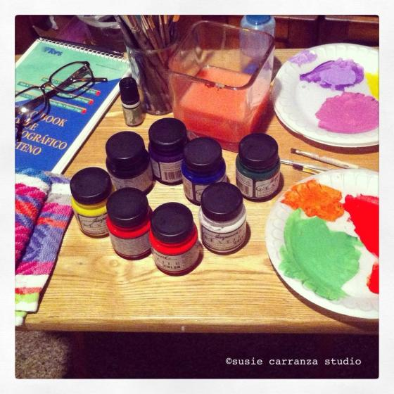 worktable: Jacquard Textile colors