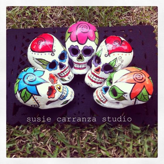 paper mache skulls