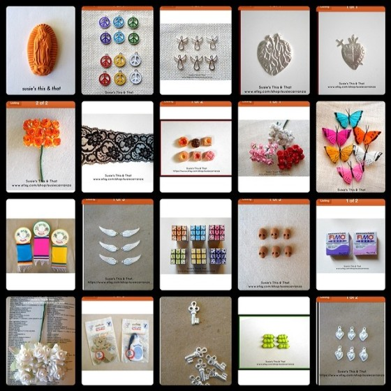 Etsy supply shop collage