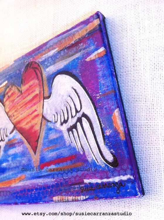 heart with wings: original canvas