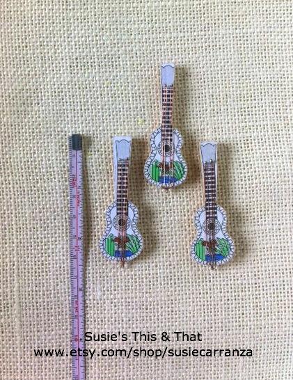 miniature wood guitars...