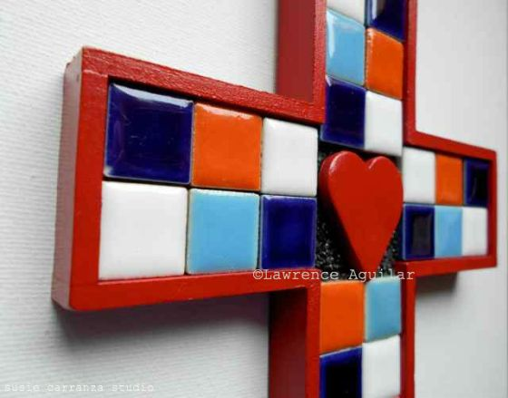 mosaic cross by Lawrence Aguilar