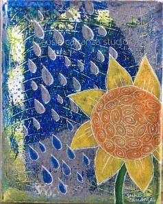 """Sunflower in the Rain"" by Susie Carranza"