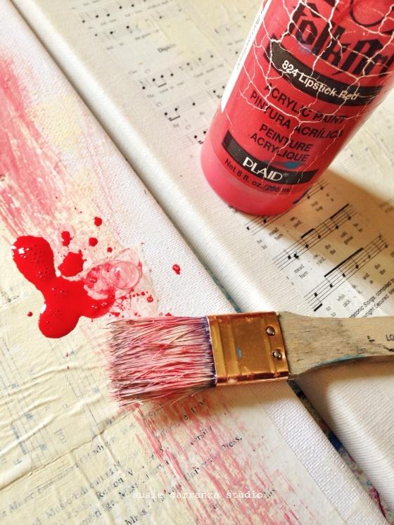red paint - susie carranza studio