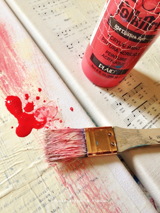red paint - susie carranza studio