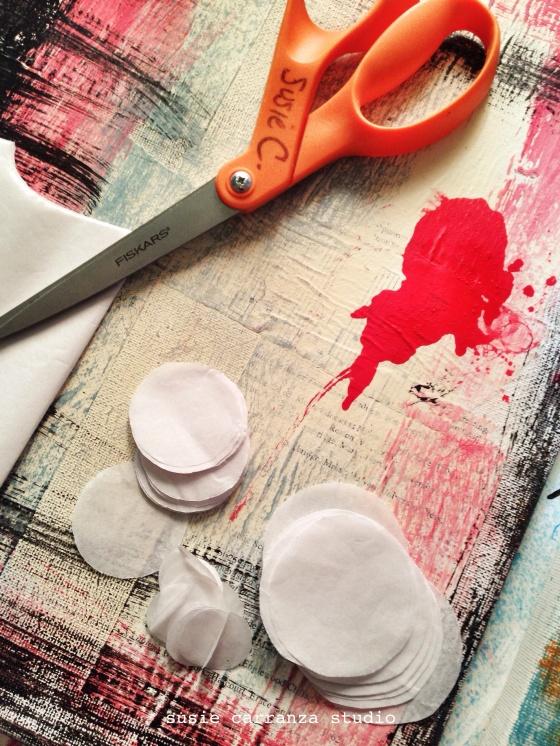tissue paper circles - susie carranza studio