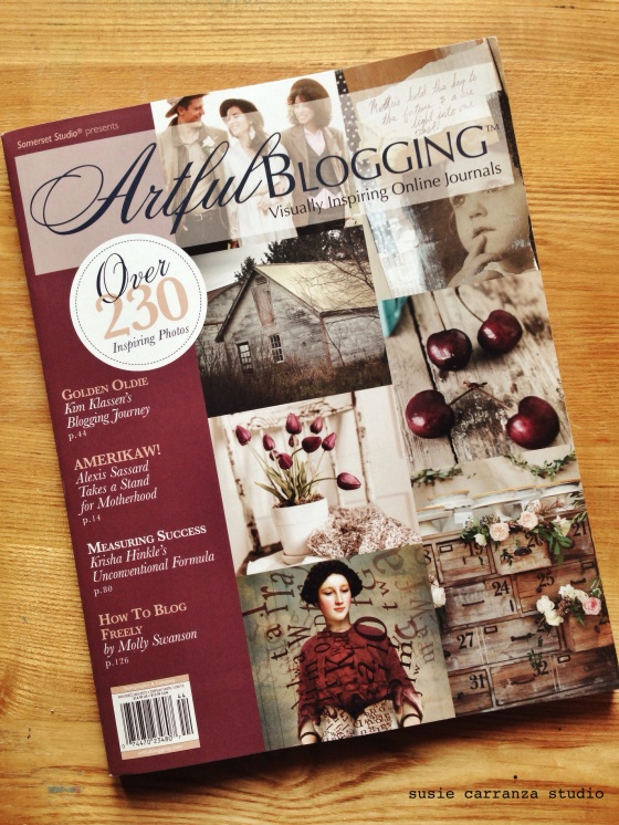 ready to kick things up a notch! ordered Artful Blogging by Stampington & Company...