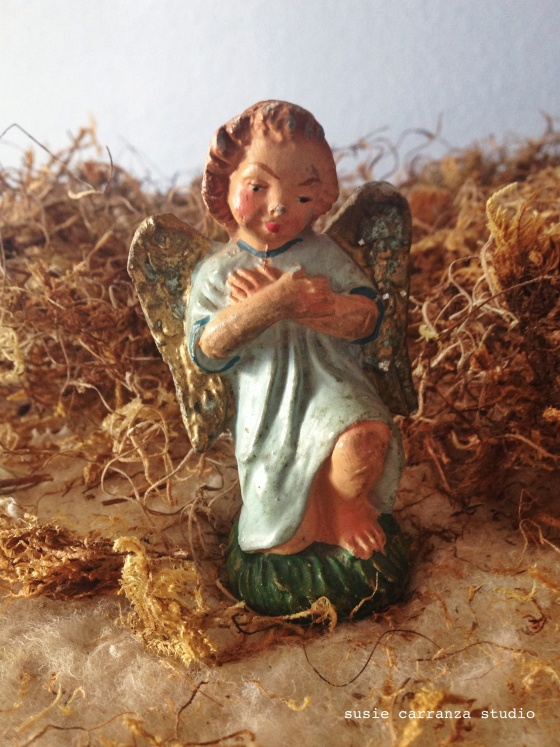 love my mom's vintage pieces, especially this angel...