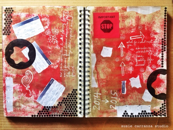 last art journaling pages for 2014...