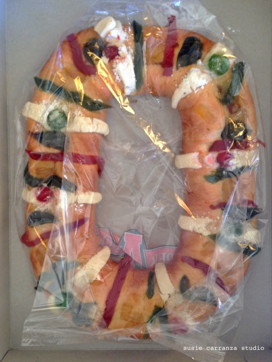 Traditional Rosca, enjoyed on January 6th, the feast of the Three Kings...