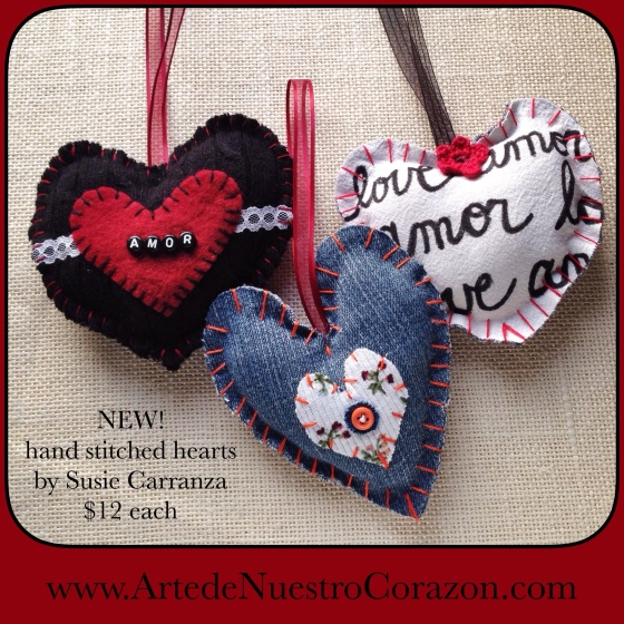 new hand stitched ornaments available at www.ArtedeNuestroCorazon.com