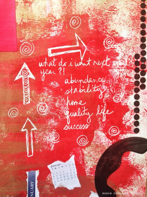 last art journaling for 2014... - susie carranza studio