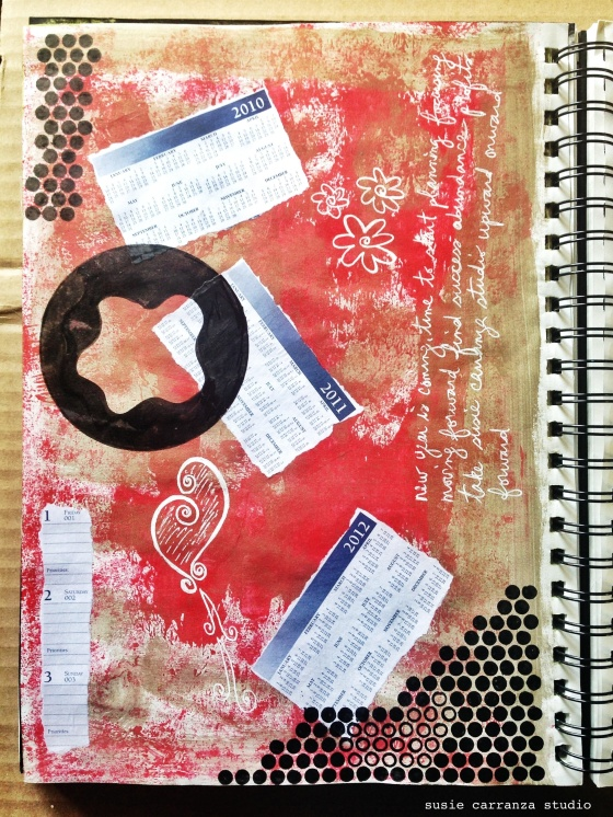 last art journaling of 2014... - susie carranza studio