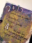 my first art journal page for 2015: what do I want to create?