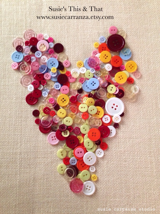Button Heart - susie carranza studio