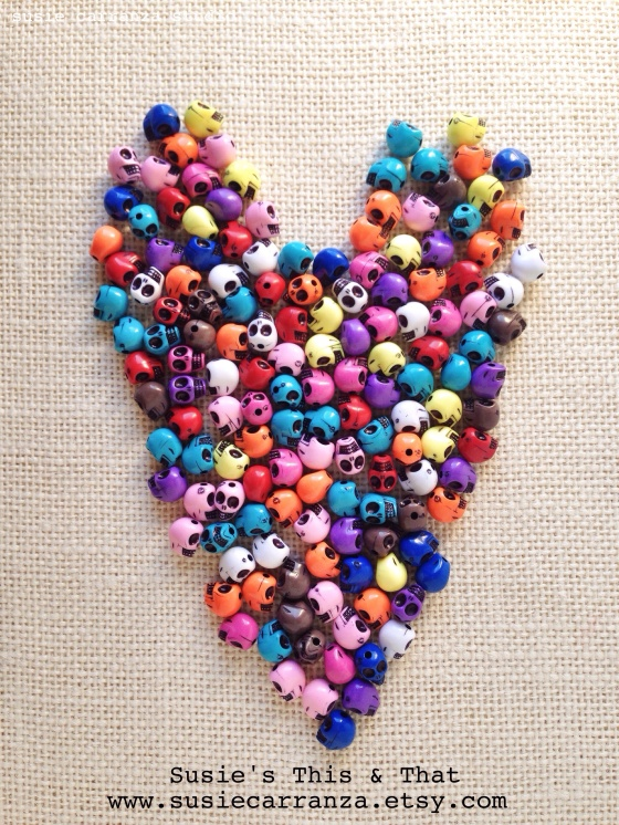 Skull Bead Heart - susie carranza studio