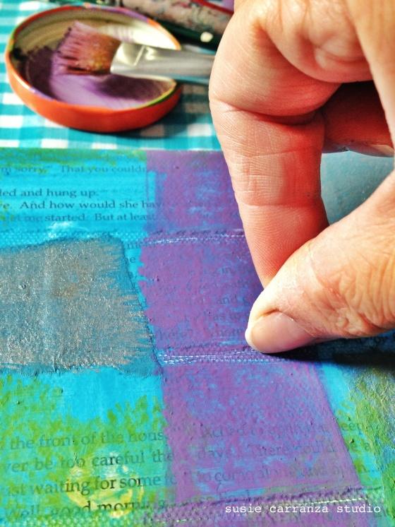scratching paint - susie carranza studio