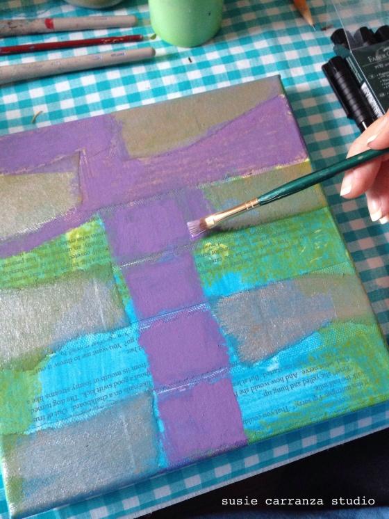 adding purple - susie carranza studio
