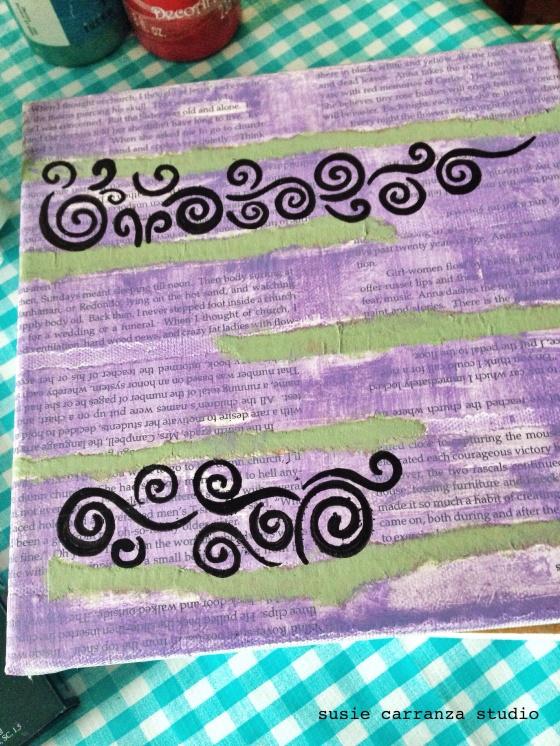 swirly stencil - susie carranza studio
