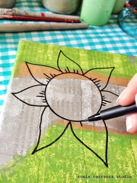 adding a flower - susie carranza studio
