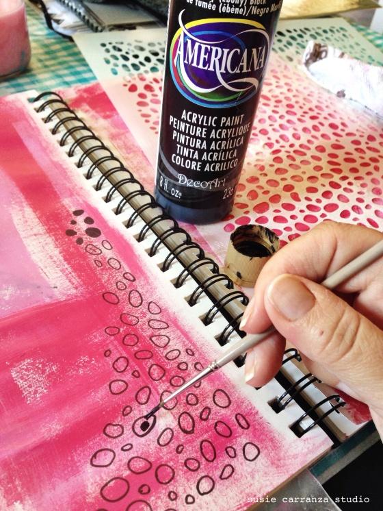 Art journaling: adding black - susie carranza studio