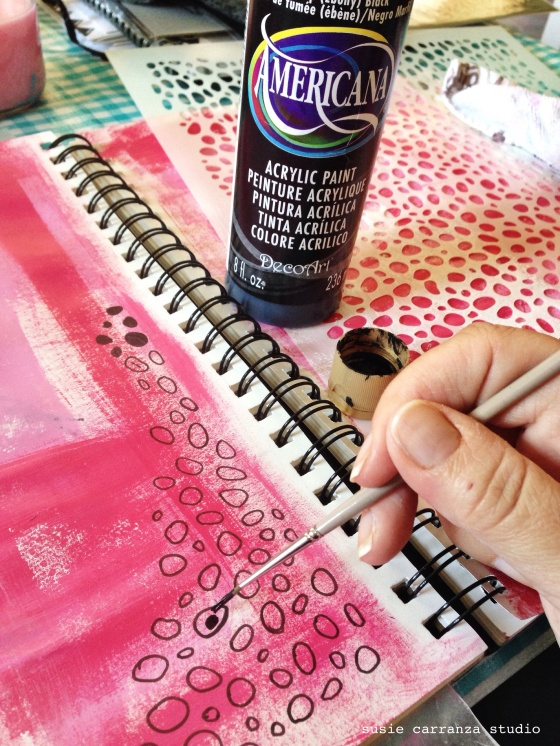 Art journaling: adding black - susie carranza studio