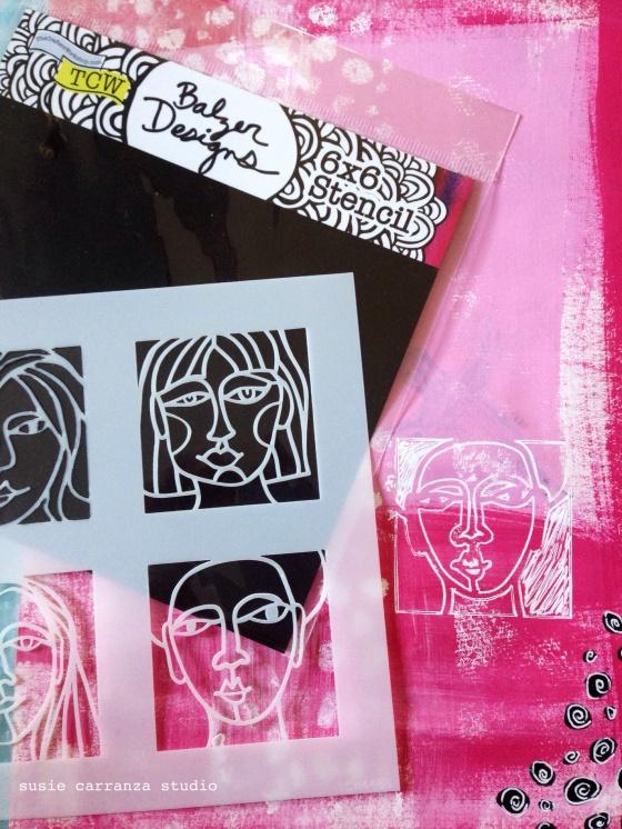 love Julie Balzer's face stencils...