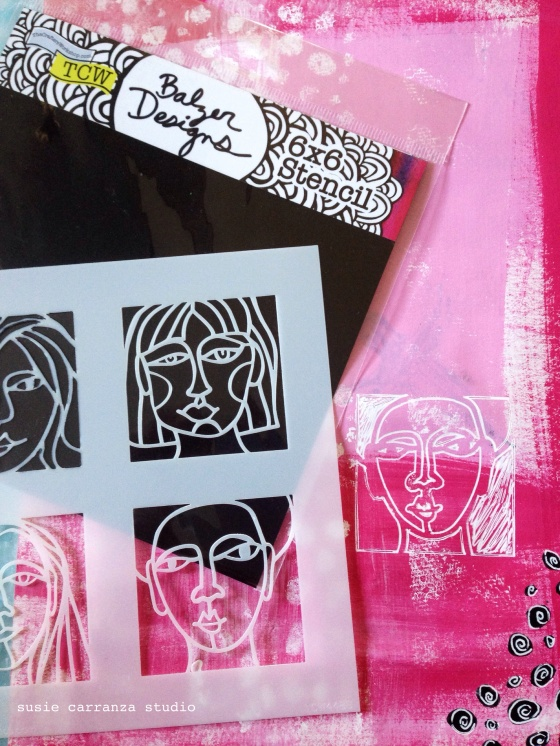 love Julie Balzer's face stencils...