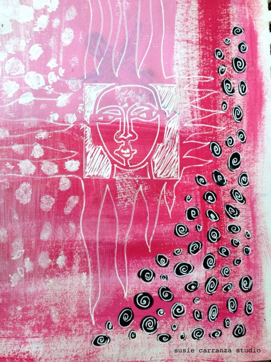 Art journaling: using stencils - susie carranza studio