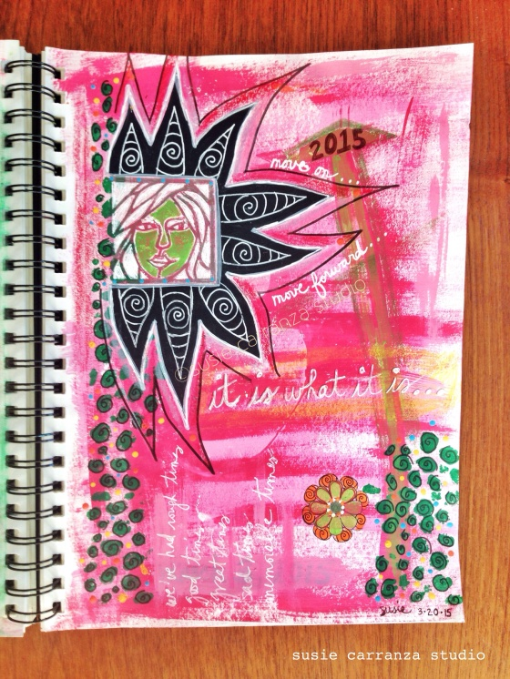 """it is what it is"" journal page - susie carranza studio"
