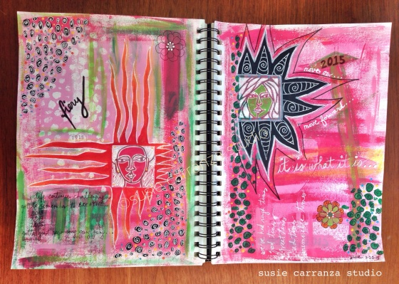 art journaling, moving on - susie carranza studio