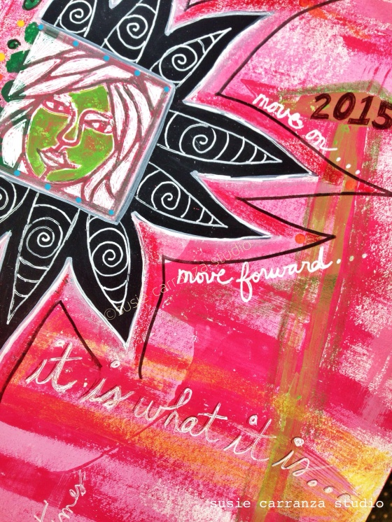 "close up: ""move on"" journal page - susie carranza studio"
