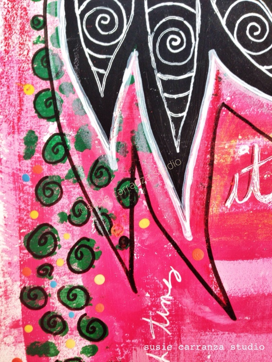 close up of journal pages - susie carranza studio