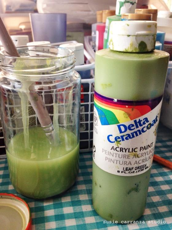 green paint water - susie carranza studio