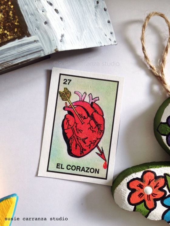 love using Loteria cards as embellishments...
