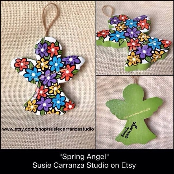 """Spring Angel"" by Susie Carranza Studio  www.etsy.com/shop/susiecarranzastudio"
