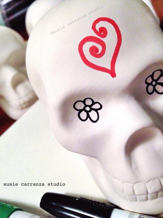 doodled heart & flower eyes...