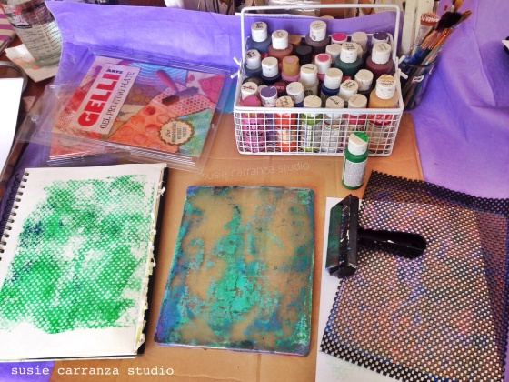 let the gelli printing begin!