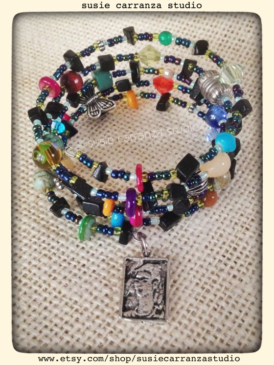 Frida beaded memory wire bracelet...