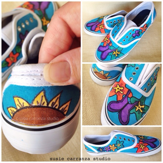 Hand painted canvas shoes - susie carranza studio