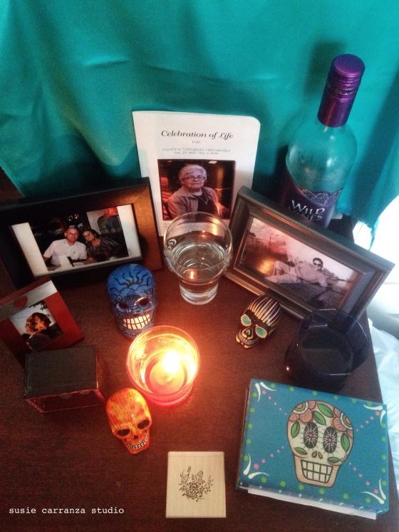Our Dia de Los Muertos altar, 2015 - susie carranza studio