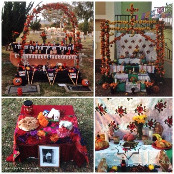 Dia de Los Muertos altars, San Gabriel Mission 2015 - susie carranza studio