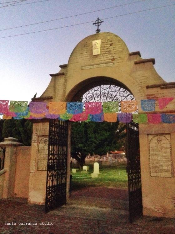 Entrance to San Gabriel Mission Cemetery - susie carranza studio
