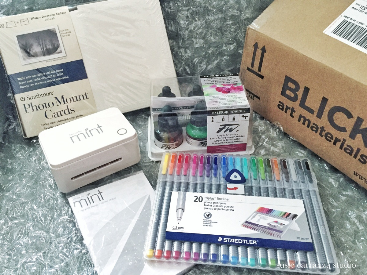 My prizes from Dick Blick art supplies!